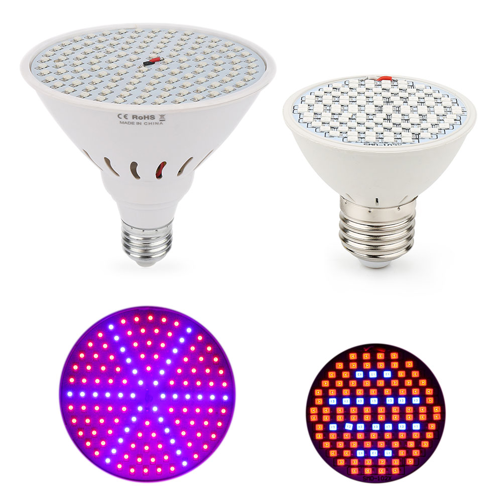 E27 LED Grow Light 10W 86Red: 20Bleue 15W 90Red: 36Blue Phytolamp for Flowering Plant Hydroponics այգիների սերմերը տնային աճի համար