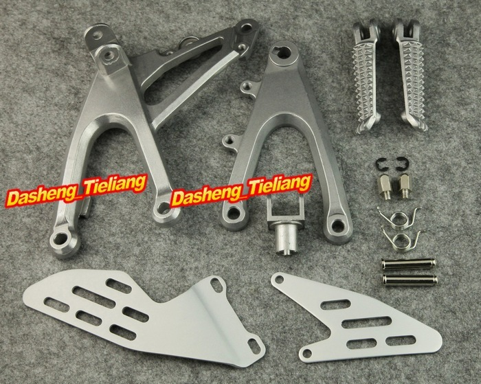 Front Rider Foot Pegs Footpegs Footrests Brackets Set For YAMAHA 2007 2008 YZF R1 Left Right