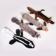 Squeak Toys Fun Dogs Animal Shape Gift Set Large Non Stuffed Rabbit Honking Squirrel for Chew Squeaker Dog Wolf