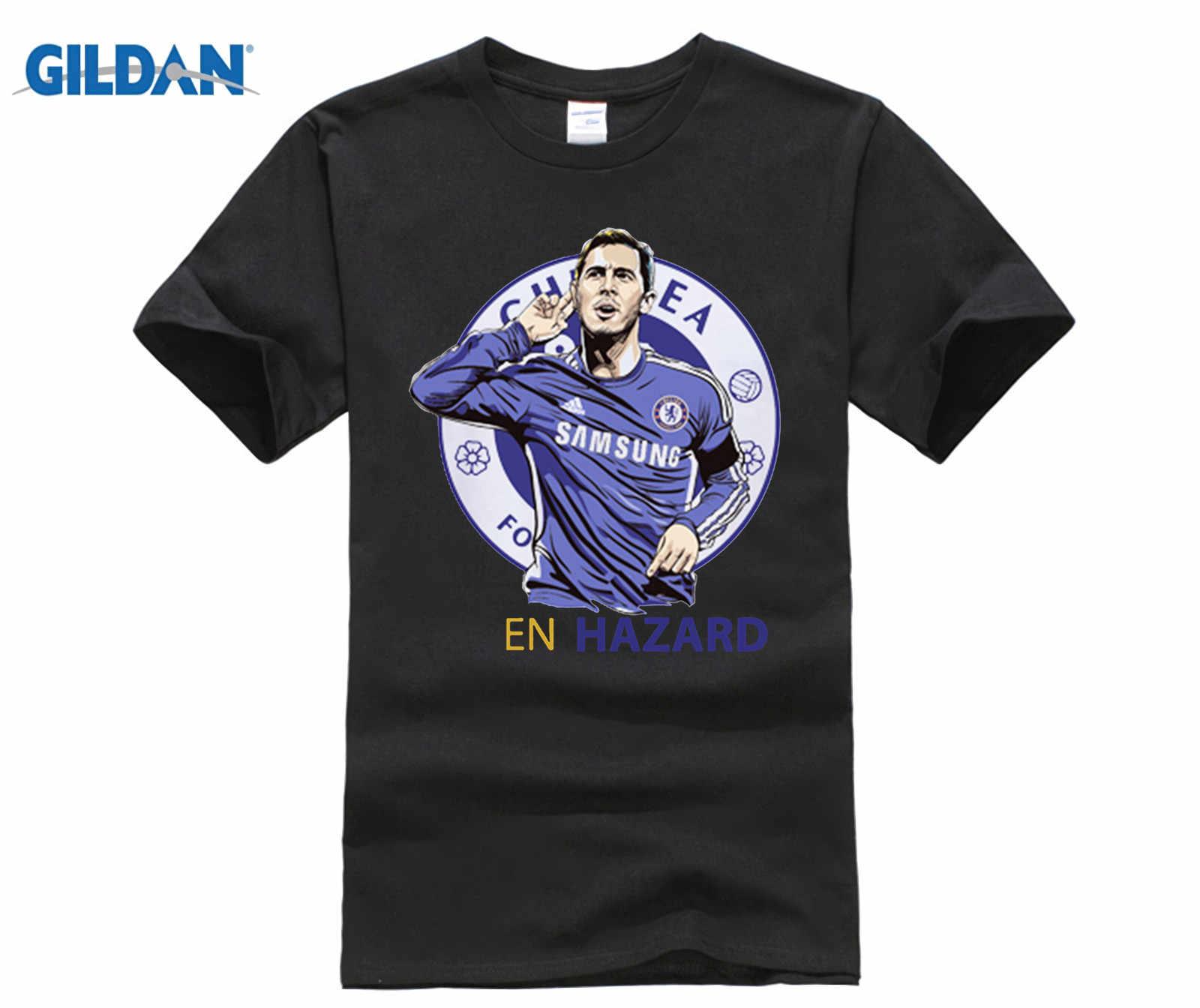 low priced 15aa7 e86c4 Men's Short sleeve t-shirt Eden Hazard Belgien Lille Rijsel Premier League  London Red Devils 100% cotton t shirt