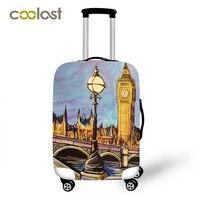 英国スタイルの女性旅行バッグカバー防塵保護カバー用スーツケースビッグベン弾