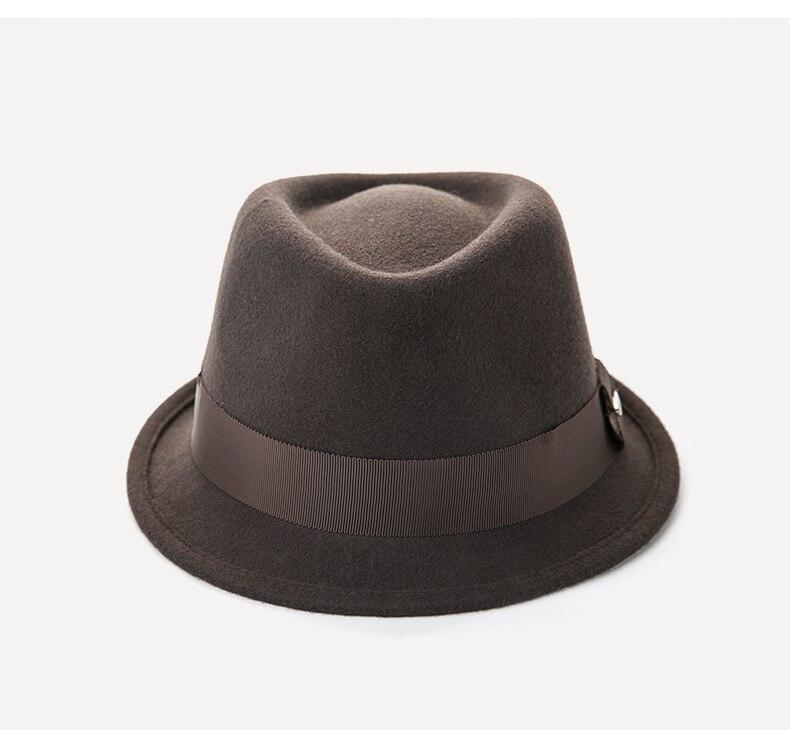 e2089616cdef7 ... asegurarse sobre que antes de cohechar un Sedancasesa nuevo macho  llegada sombrero de invierno hombre moda de lana de fieltro sombreros niños  sombreros ...