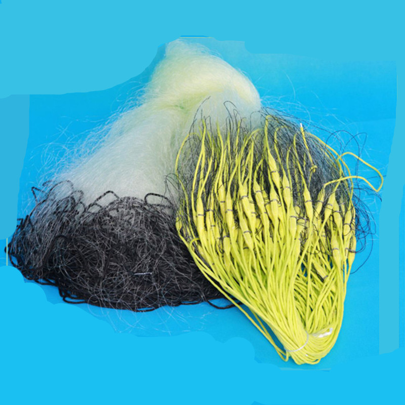 Profondeur 2 m-4 m longueur 80 m-100 m filet de pêche en nylon filet de pêche rede pesca piège à poisson extérieur outil extérieur accessoires réseau solide