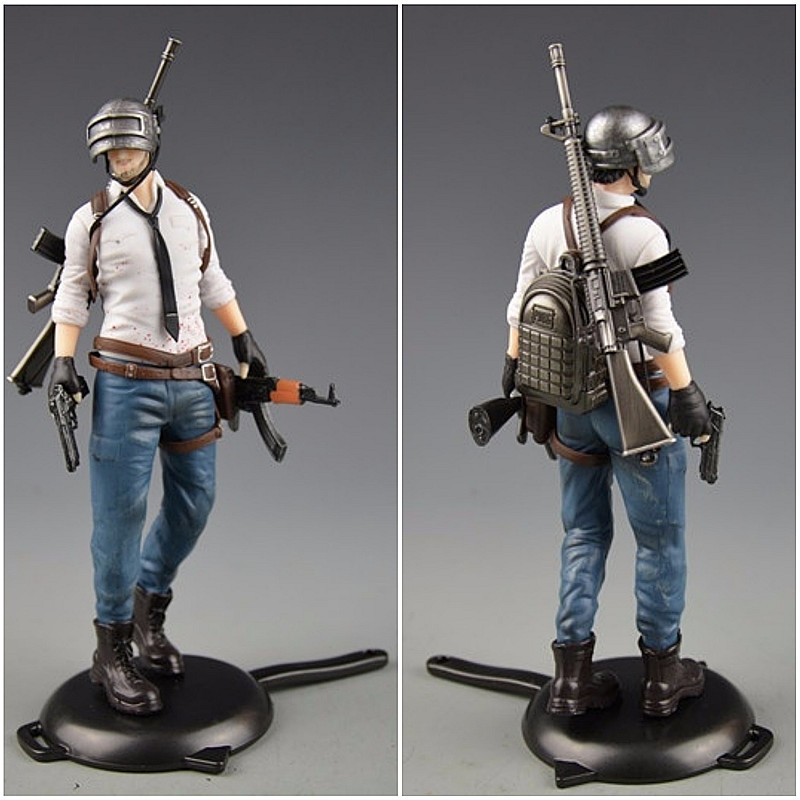 Playerunknowns Battlegrounds  PUBG Around 6 inch doll figure spot to eat chicken tonight Metal Fashion Car Weapon model 12Style 1