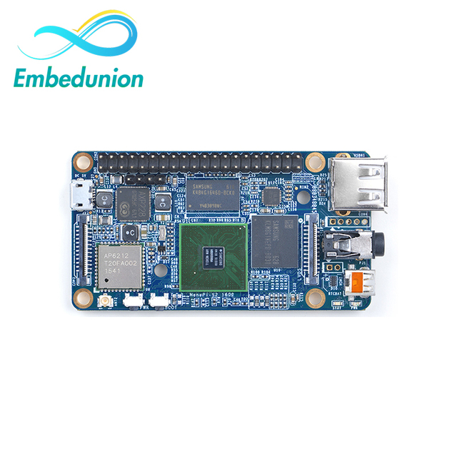 S5P4418 Quad Core Cortex-A9 NanoPi S2(1GB RAM,8GB eMMC,1.4GHz)+USB Cable=NanoPi S2 KIT-E-A(Runs u-boot,Android5.1,Debian8)