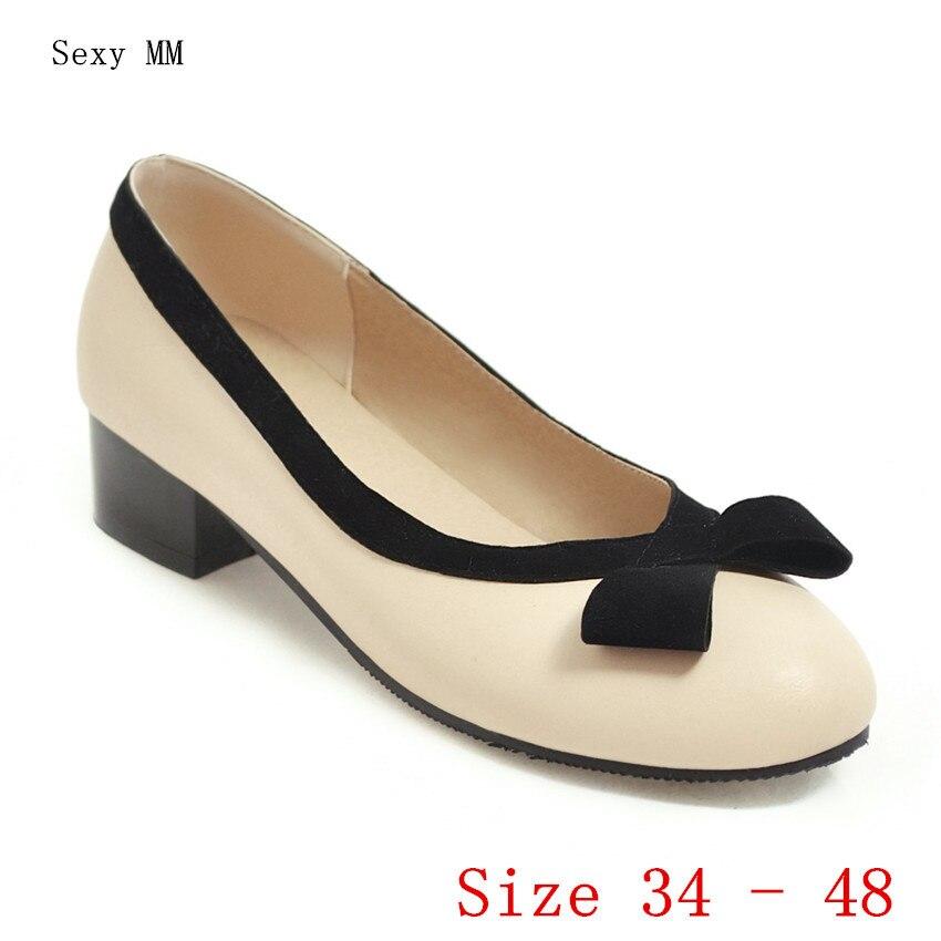 Zapatos de tacón bajo alto para mujer, zapatos de tacón bajo alto para mujer, tacones de gatito de talla grande 34-40 41 42 43 44 45 46 47 48 ZUECO ARMONIAS TACÓN TRACK