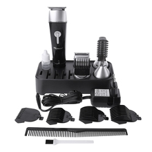 5 in 1 Electric Hair Clipper Nose Hairs Trimmer Shaver Sideburns Beard Haircut Set With Comb Brush EU Plug Hair styling Tool