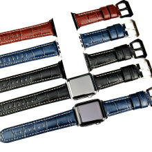 MAIKES genuine cow leather watch band for Apple 42mm 38mm series 2 & 1 iwatch