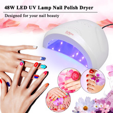 Abody 48 Вт Светодиодный УФ-светильник для ногтей, лампа для ногтей, Сушилка для ногтей, гель-отверждение, белый светильник, нагреватель, машина для дизайна ногтей, набор инструментов для салона
