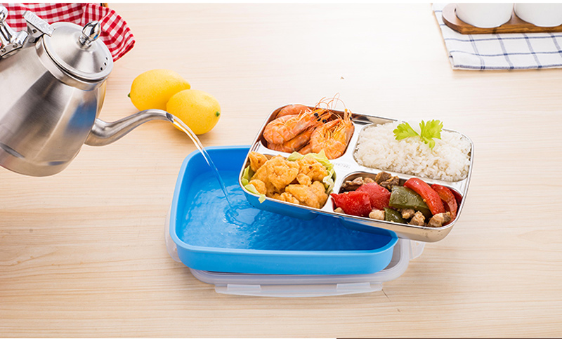 304 Stainless Steel Cartoon Bento Box For kids School Portable Cute Plastic Lunch Boxs Japanese Style Sushi Food Containers 14