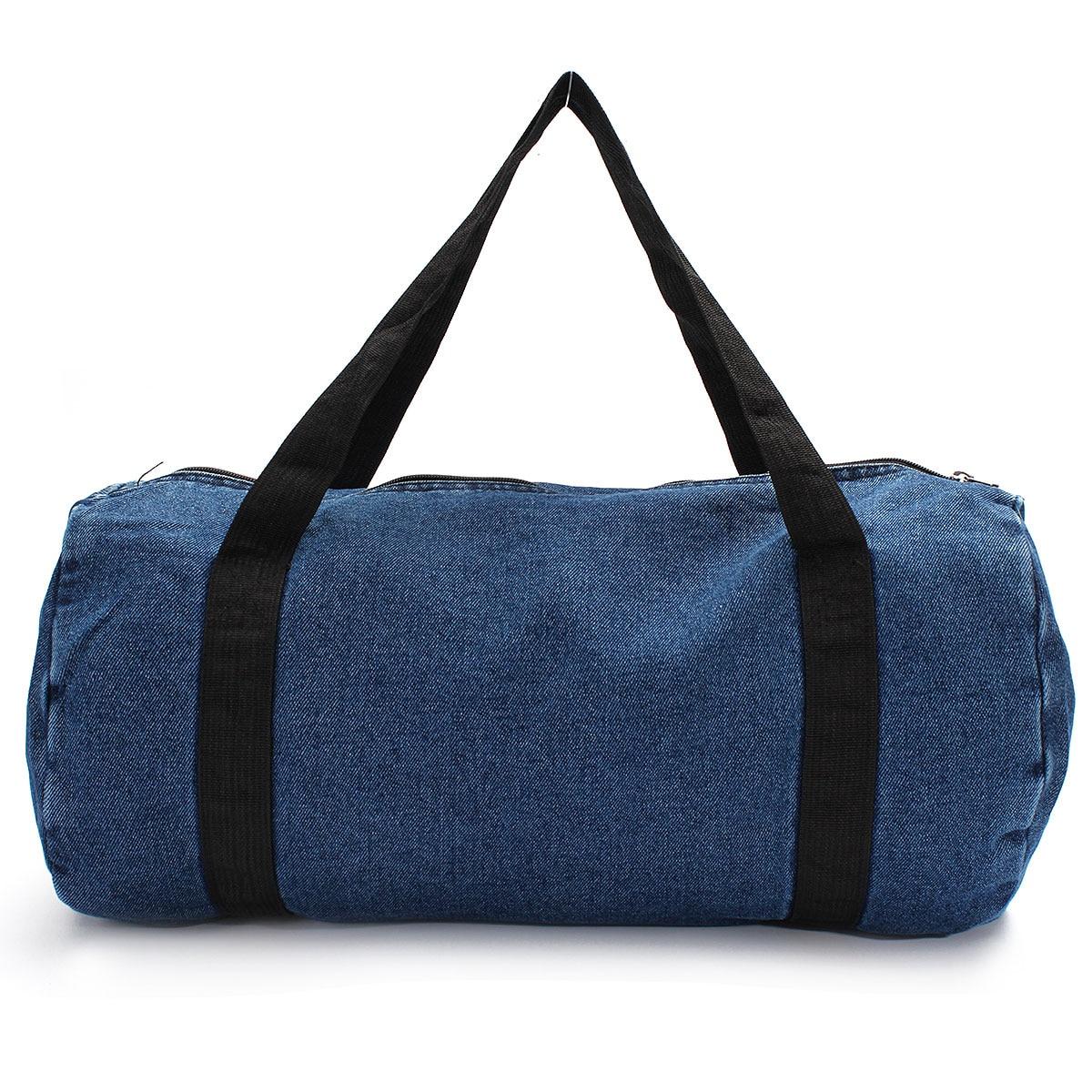 ae7a787c19b6 Outdoor Sport Gym Bag Travel Duffel Denim Jean Cloth Sport Bags Women  Fitness Yoga Training Female Duffel Luggage Handbag