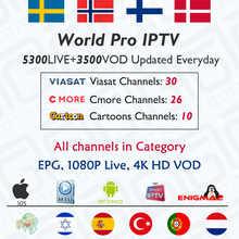 GOTiT 5000 + Live World Pro Израиль HD IPTV подписка на Nordic Великобритания Франция Германия голландский для M3U Enigma2 IOS Android ТВ коробка