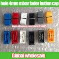 50 unids atenuador mezclador potenciómetro deslizante recta cap botón/push perilla de boca estrecha keycaps jugar disc players/agujero 4mm