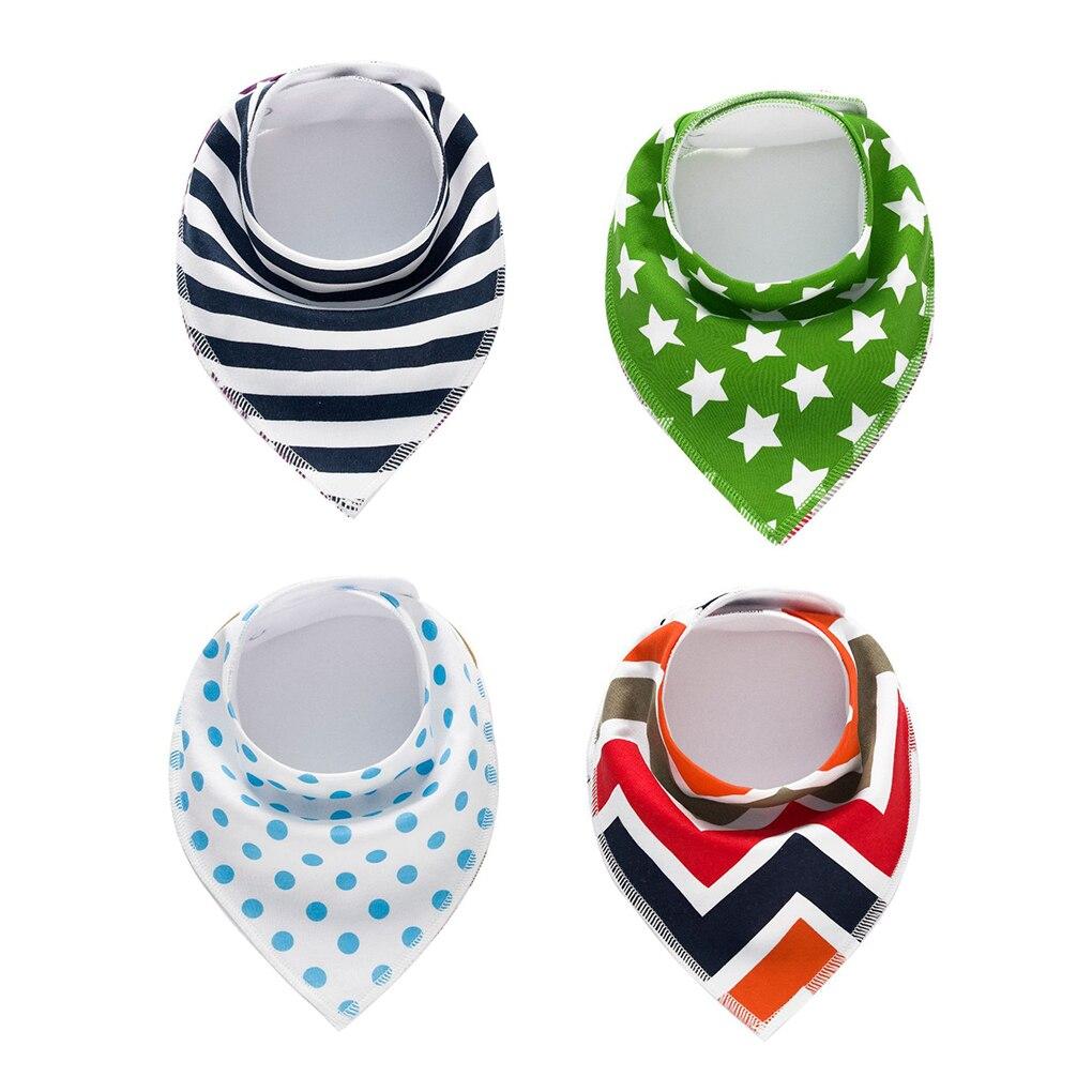 New Arrival 4pcs/lot Infant Newborn Baby Bibs,Burp Cloth,CottonBaby Bandana Bibs Infant Feeding Cotton Saliva Towel Scarf