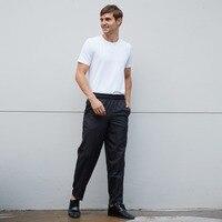 Chefwear pantolon özel tasarım restoran garson çalışma pantolon erkek gri çizgili moda batik şef pantolon İngiltere ücretsiz kargo