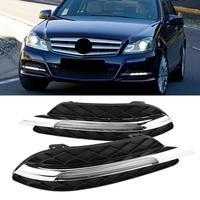 1 пара днем ходовые огни DRL светодио дный фары Противотуманные Лампа для Mercedes Benz W204 C Class 2011 2012 2013 автомобилей стиль