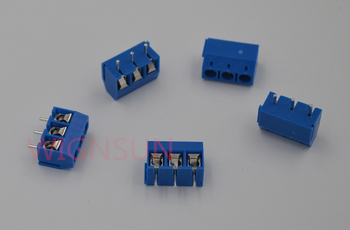 10Pcs blue 2-pin pitch screw terminal block connector 5.08mm panel pcb mount RDR