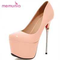MEMUNIA Sexy Platform Ankle Strap Thin Heels Women Pumps Hot Sale Spring Autumn High Heels Shoes