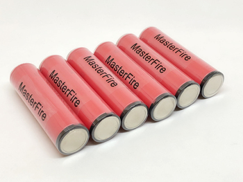 MasterFire 10pcs/lot Genuine Protected Sanyo 18650 NCR18650GA 3.7V 3500mAh Rechargeable Lithium Battery 10A Discharge with PCB