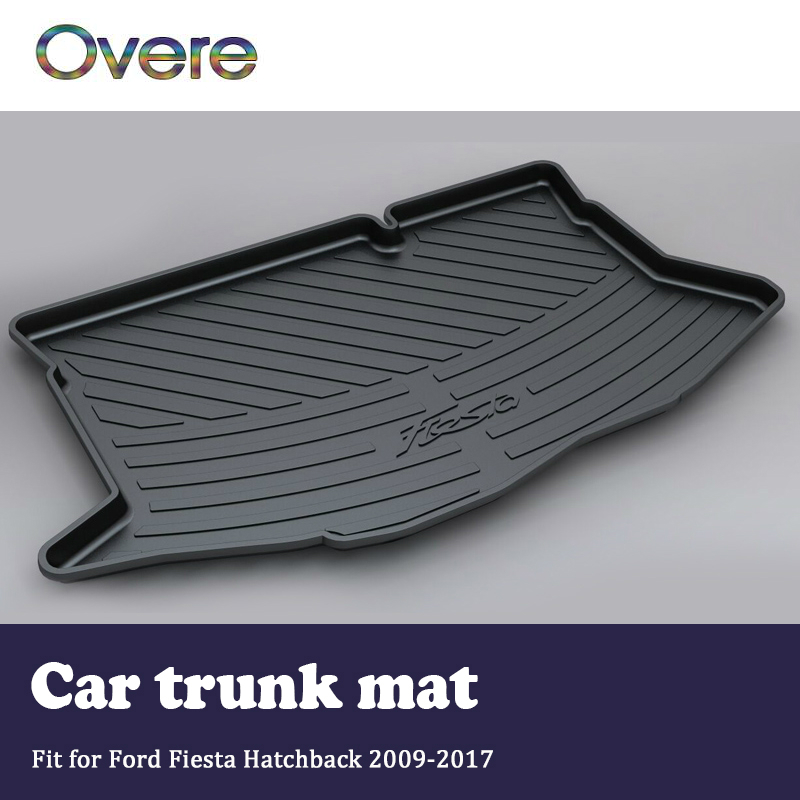 цена на Overe 1Set Car Cargo rear trunk mat For Ford Fiesta Hatchback Mk7/7.5 2009 2010 2011 2012 2013 2014 2015 2016 2017 Accessories