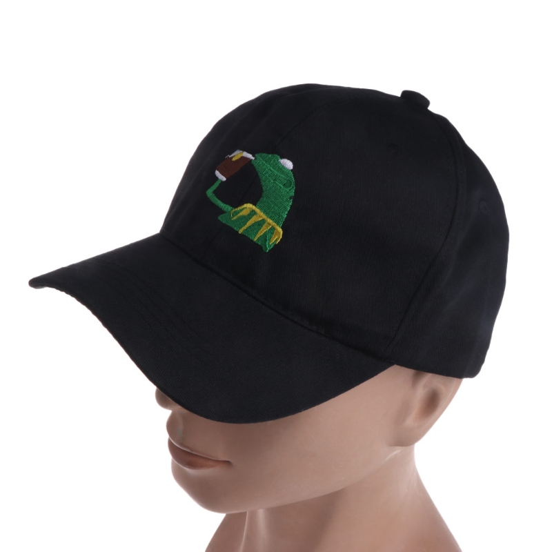 KLV Print Frog Men Women Black Baseball Cap Hat Cap New Fashion 2018 New Fashion Unisex Casual Baseball Hat
