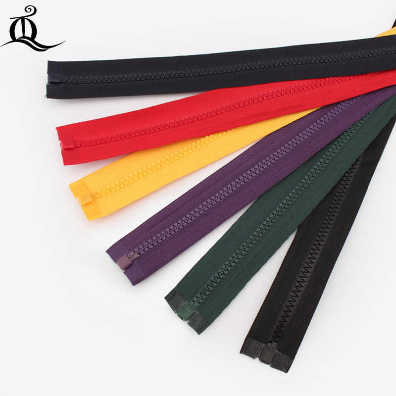 end-open protection #5  40-100cm 1pcs resin Zippers With cool Slider, Multi-color Zippers For DIY Sewing mix Colors Available