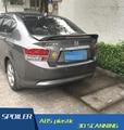 Para honda city car rear wing spoiler de material abs de alta calidad color de imprimación alerón alerón trasero para honda ciudad 2010-2013