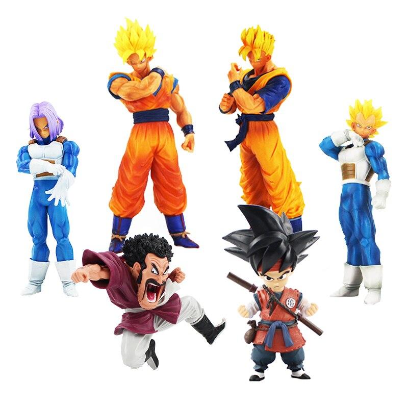 15-32 cm Dragon Ball Z figura de acción Son Goku gohan Vegeta troncos Hercule marca Resolución de soldados vol.5 PVC figura modelo de juguete