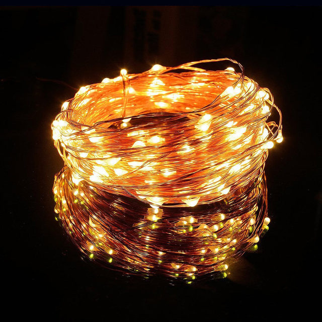 100 LEDs 10M Solar String Lights Fairy Lamp Outdoor Lighting Waterproof For Garden Restaurant Christmas Tree LED Strip Light