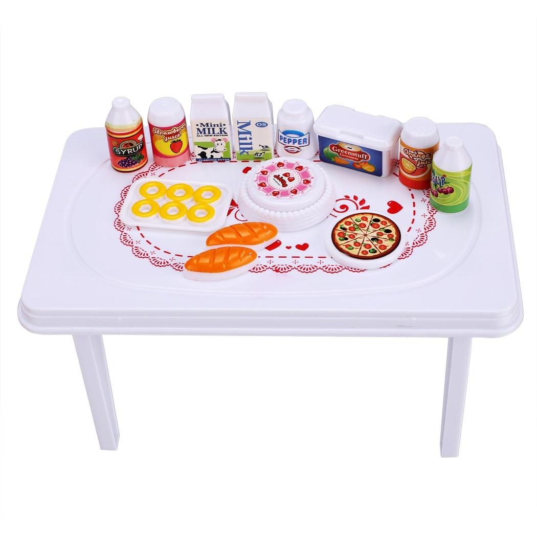 Baby kinder puppe toys set party tisch stuhl mit getränke ...