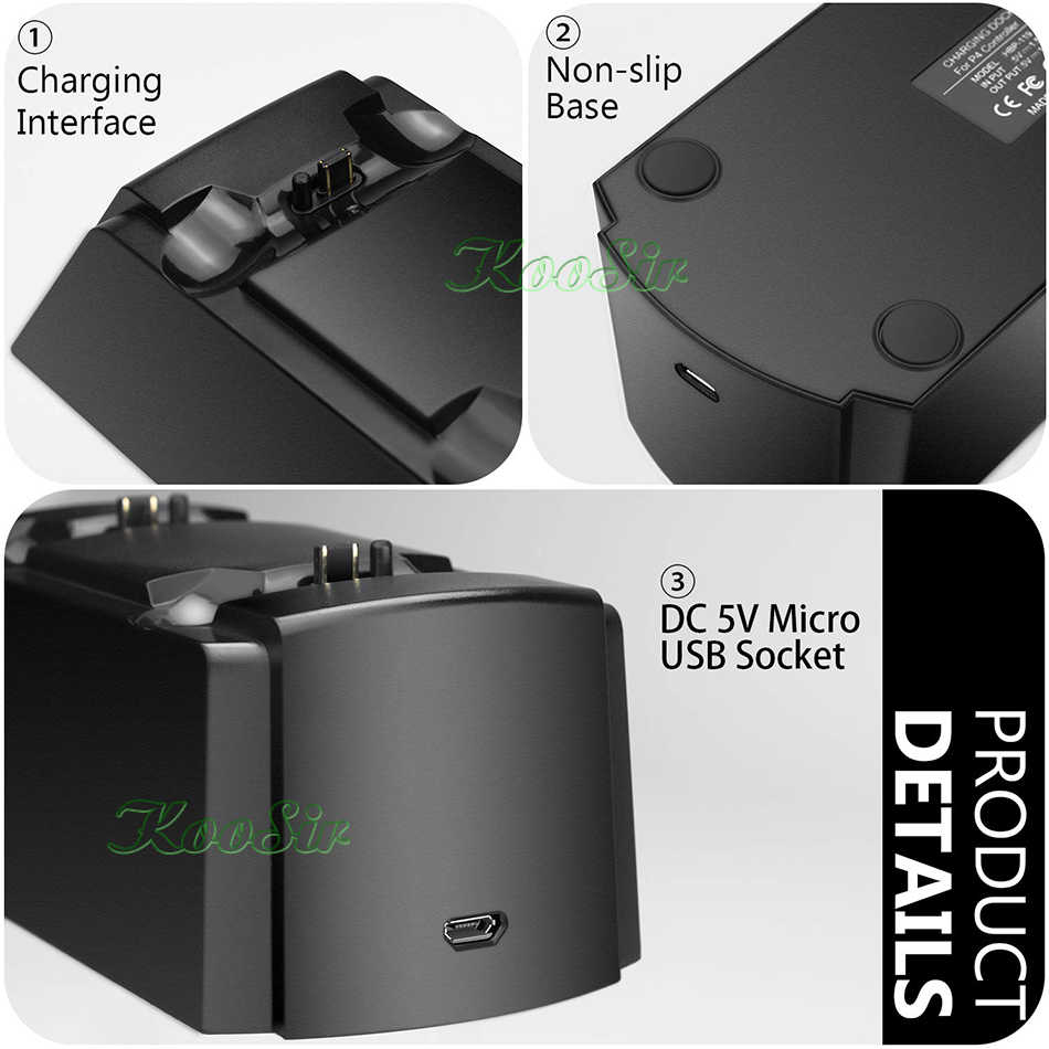 PS 4 Slim Pro 3 In 1 Wireless Controller Pengisian Dock PS4 Joystick Charger Play Station 4 Gamepad Pengisian Base untuk DualShock 4
