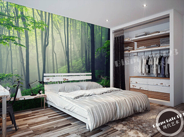 цена  Custom photo wallpaper, the sun of the forest landscape murals for the living room bedroom TV background wall papel de parede  онлайн в 2017 году