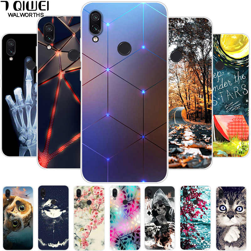 A 6.3'' For Xiaomi Redmi Note 7 Case Silicone Soft TPU Phone Cases For Xiaomi Redmi Note 7 Case Note7 Covers Owl Animal Coques
