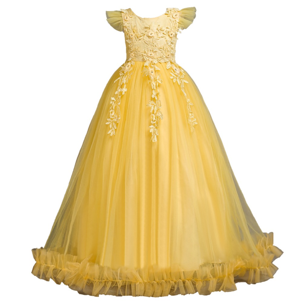 Vigarelyan Kids Wedding Flower Girls Dress Princess Christmas Party Children Pageant Formal Long Prom Dresses 10Y Birthday DressVigarelyan Kids Wedding Flower Girls Dress Princess Christmas Party Children Pageant Formal Long Prom Dresses 10Y Birthday Dress