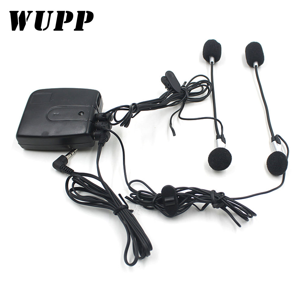 WUPP Helmet Headset Intercom Headphones-Accessories Mp3 Moto GPS Plug-Diameter Modified title=
