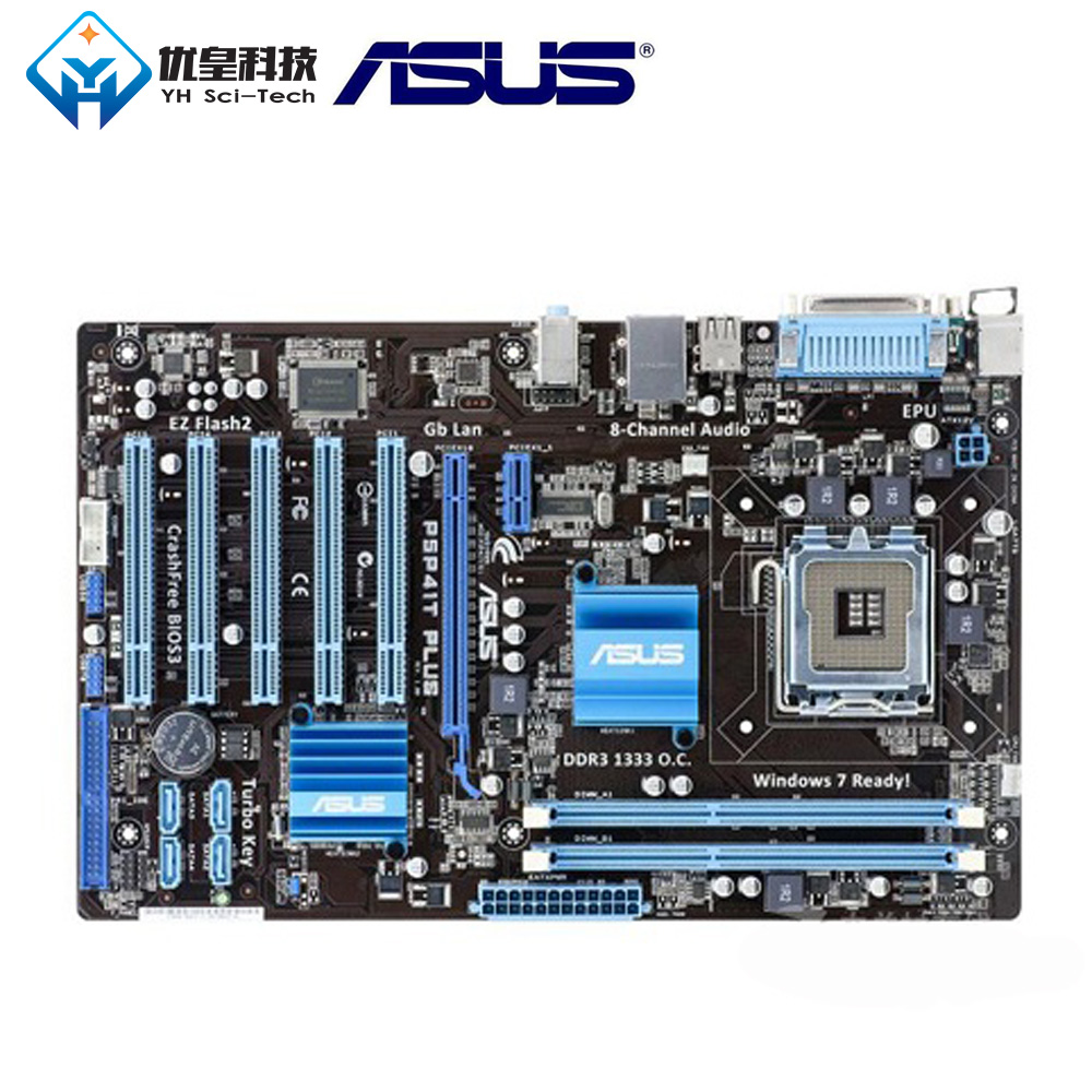 Asus P5P41T PLUS <font><b>Intel</b></font> P41 Original Used Desktop Motherboard Socket LGA 775 Q8200 <font><b>Q8300</b></font> DDR3 8G ATX image