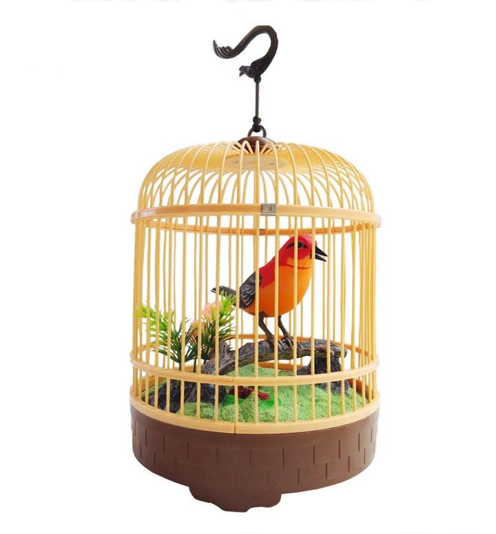 Çocuk elektrikli akustik küçük kafes elektrikli oyuncak akustik müzik oyuncak hareketi papağan oyuncak arayacak