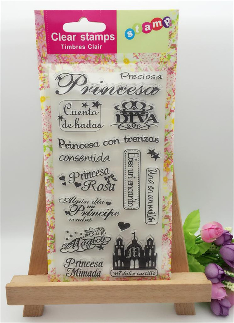 scrapbook DIY paper card  castle and letters clear STAMPS FOR PHOTO scrapbooking for christmas wedding gift CL-254