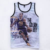 Curry Jordan Print Tank Top Men Bodybuilding Summer Style Street Workout Fishnet Mens Mesh Tank Tops