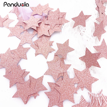 Sweet 16 decorations birthday gifts confetti table baby girl one year old rose gold confettis happy birthday star heart shape