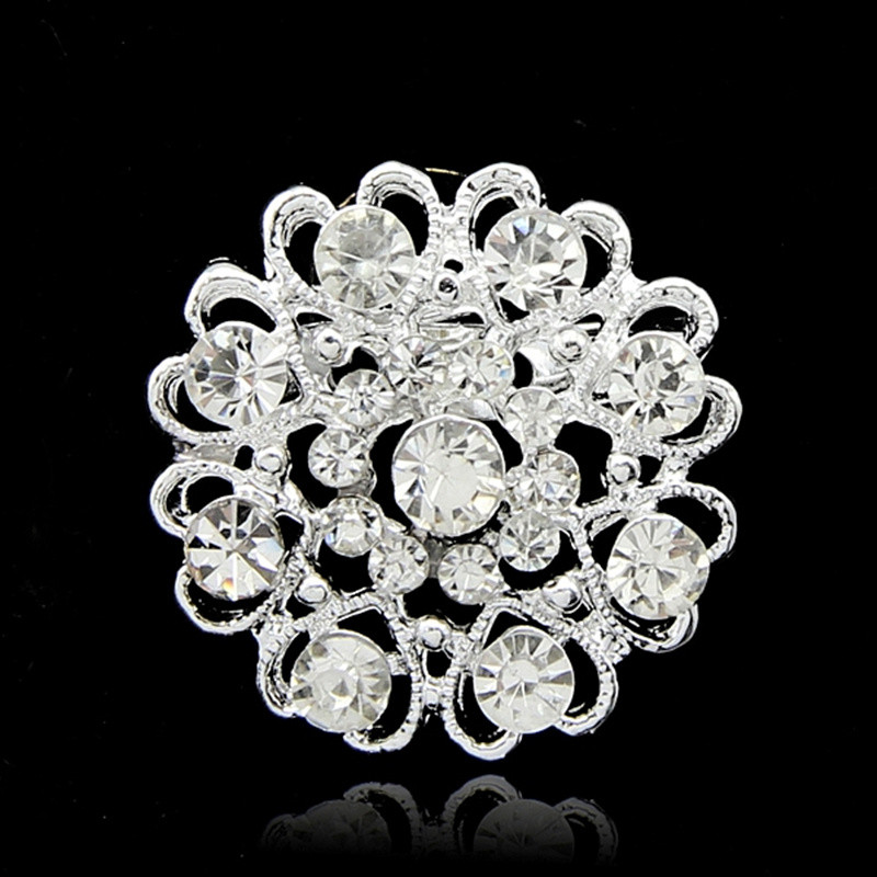 2016 rhinestone pins and brooches for women fashion brooch pins flower jewelry for love wedding brooch jewelry for best friend