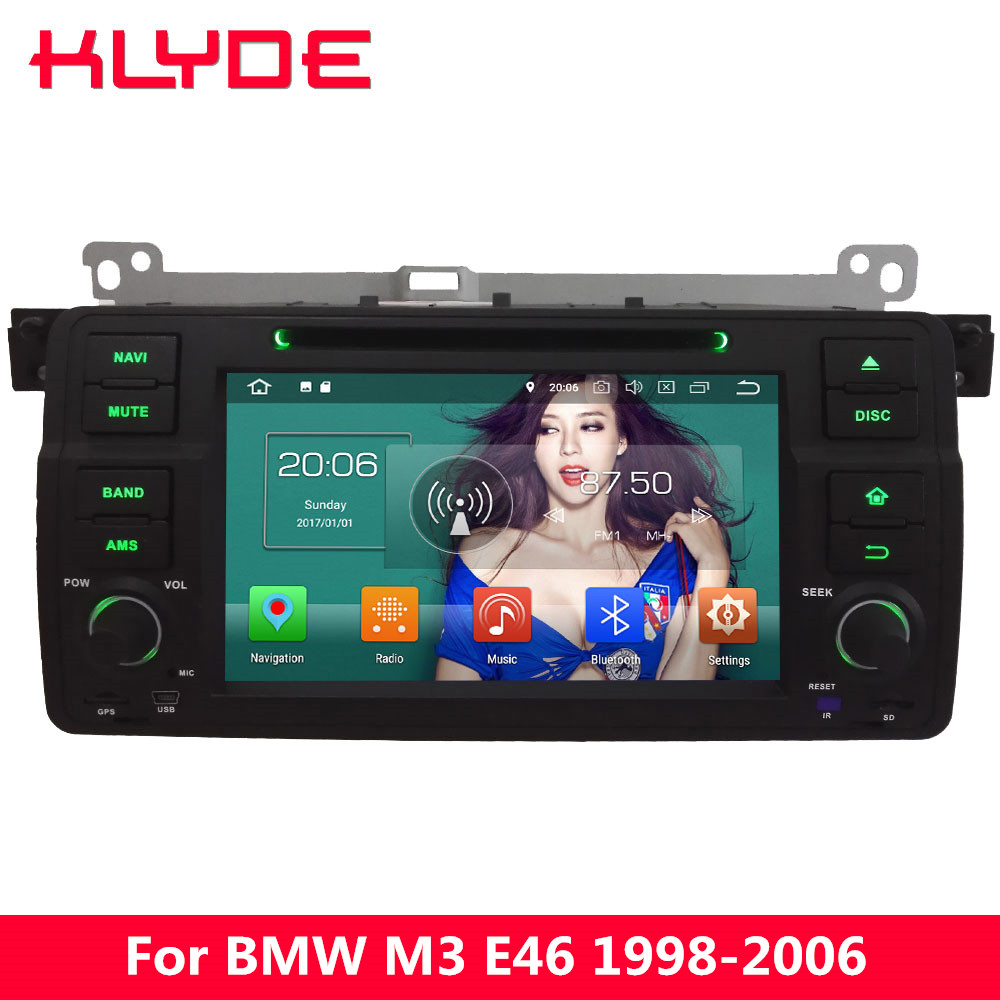 KLYDE 4G Octa Core PX5 Android 8.0 4 GB RAM 32 GB ROM voiture DVD lecteur multimédia Radio pour BMW série 3 E46 M3 318i 320i 325i 328i