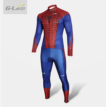 Super Hero Spiderman cycling jersey men/women/children long cycling clothing breathable and quick drying free shipping