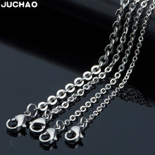 JUCHAO Jewelry Findings Components 316 Stainless Steel Necklace Titanium Steel Cross Chain Diy Men Women Accessories O-Chain(China)