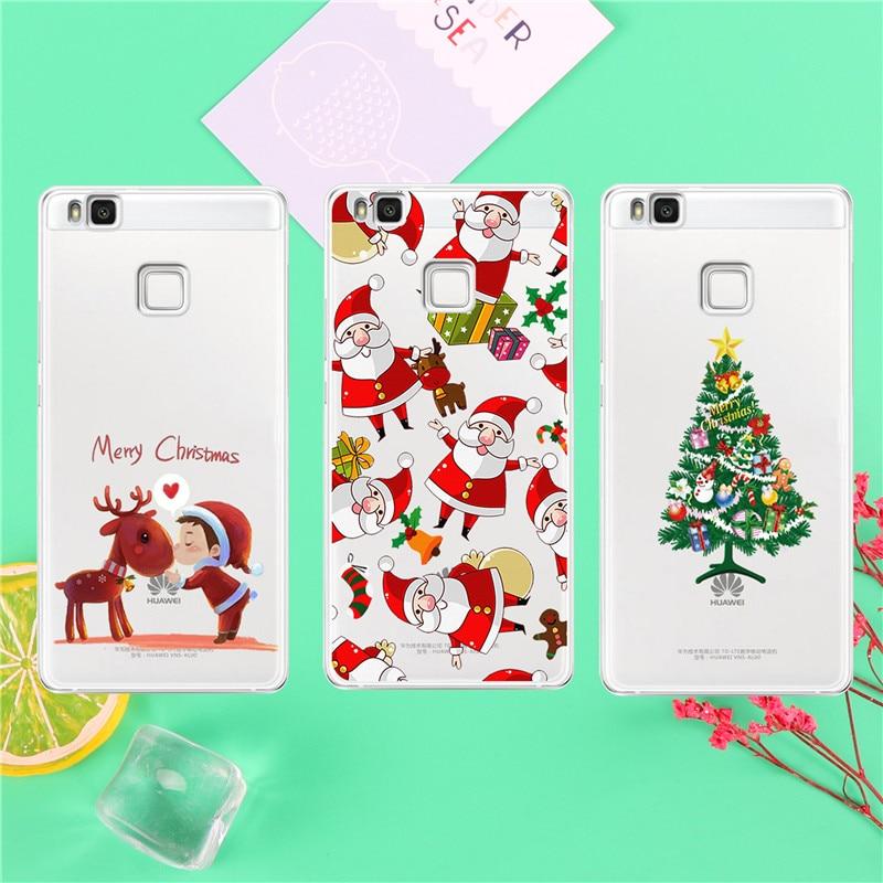 Deer Child Tree Christmas Navidad Noel Case Coque For Huawei P8 P9 P10 Lite Case Back Cover Navidad Noel