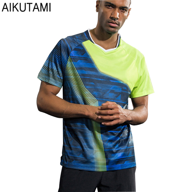 fb03ca8fd50 New Quick Dry Sport Shirts Men Women Table Tennis Clothes Printed  Breathable Badminton Tennis Jersey Running Gym Sport Clothing