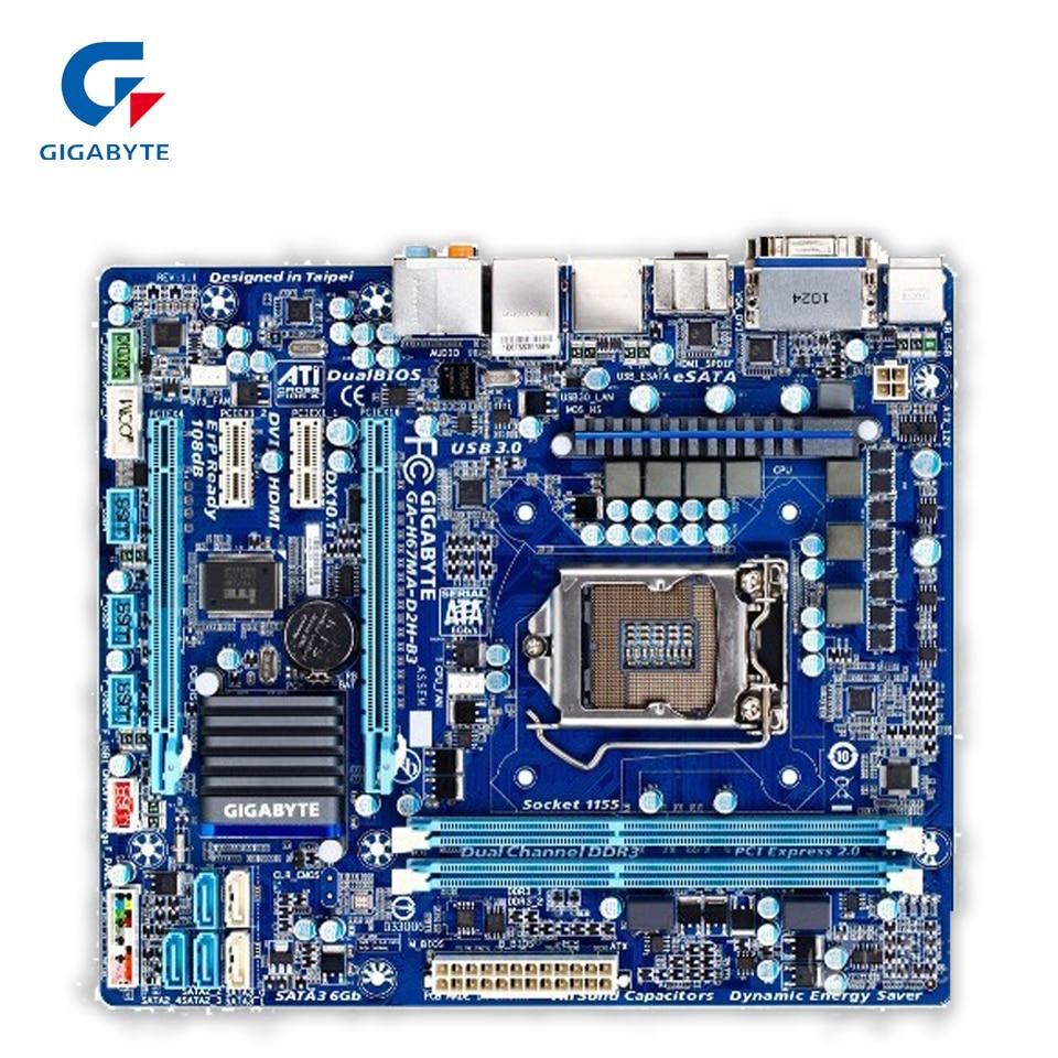 Gigabyte GA-H67MA-D2H-B3 Original Used Desktop Motherboard H67MA-D2H-B3 H67 LGA 1155 i3 i5 i7 DDR3 16G gigabyte ga p67a ud3r b3 original desktop motherboard ddr3 lga1155 4 channels 32gb p67a ud3r b3 p67 motherboard free shipping
