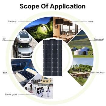 XINPUGUANG 100W solar panel 200w photovoltaic Flexible Solar module 18V Sonnenkollektor 12v 24 v car battery charger Solpanel 4