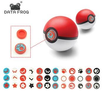 Rana de datos para Nintendo Switch NS, Poke PLUS, pieles de bola de balancín, tapa protectora para Joystick, tapa de balancín de reemplazo