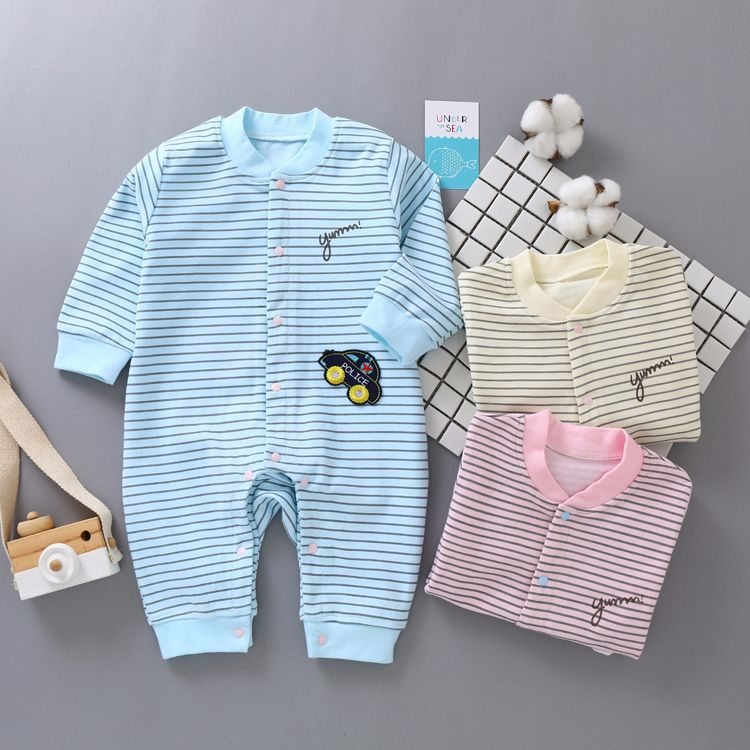 Baby Rompers cotton Long sleeve Baby Boy Girl Clothing Newborn Infant stripe Clothes boys Jumpsuit Bebe De Roupa